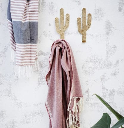 Patère - Cactus doré