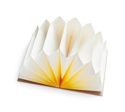 Porte-document - Plissé jaune