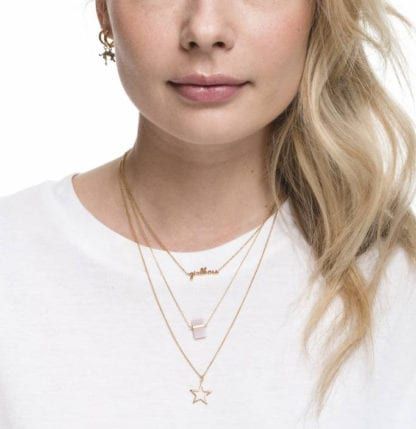 Collier – Quartz rose