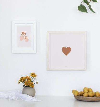 Affiche carrée – Coeur