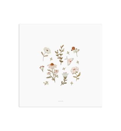 Affiche carrée – Fleurs