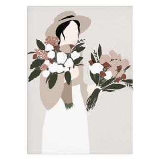 Affiche A4 – Femme & Fleurs