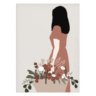 Affiche A3 – Panier & Fleurs