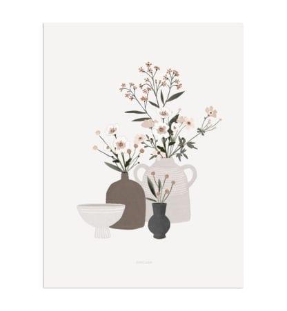 Affiche A3 – Pots & Fleurs