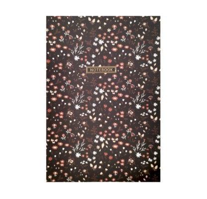 Cahier - Fleurs - Noir