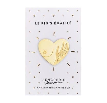 Pin's émaillé - Au naturel - Seins
