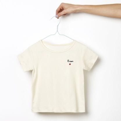T-shirt - Bisou brodé