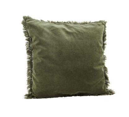 Housse de coussin - Velours vert