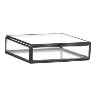 Boîte en verre - Noir S