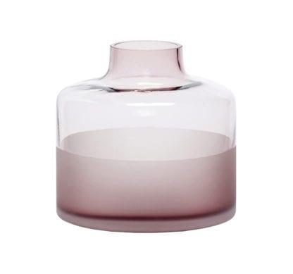 Vase transparent - Rose S
