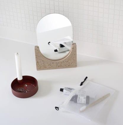 Miroir de table – Terrazzo rose