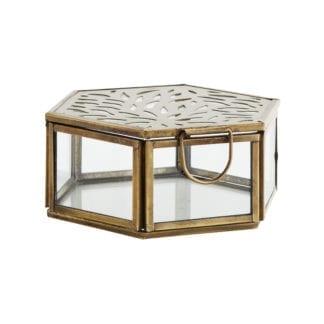 Boîte en verre - Hexagonal à motif