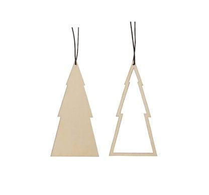 Déco Noël - Sapin en bois (2pcs)