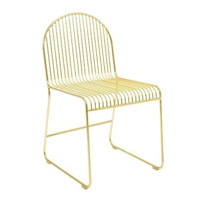 Chaise - Métal doré