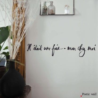 Sticker mural – Mon chez moi
