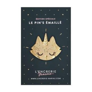 Pin's émaillé – Chat licorne