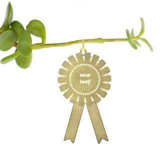 Déco pour plante - Médaille New Leaf