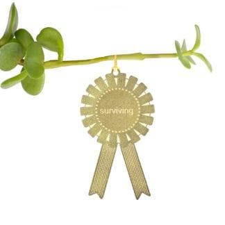 Déco pour plante - Médaille Surviving