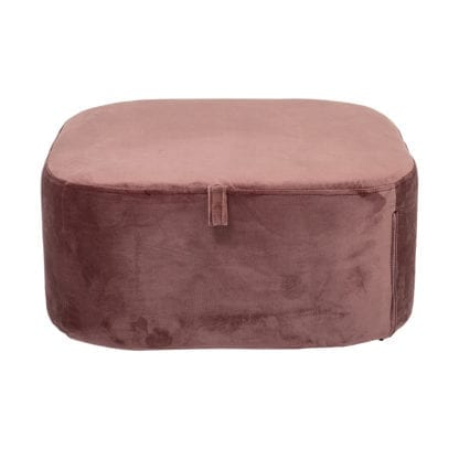 Pouf velours - Rose
