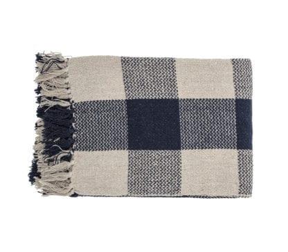 Plaid en coton - Noir & Beige