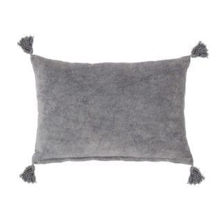 Coussin - Velours gris