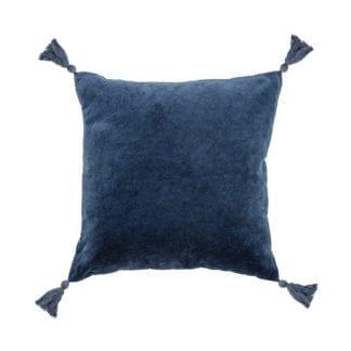 Coussin - Velours bleu