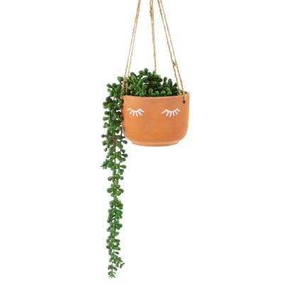 Cache-pot à suspendre – Yeux terracotta