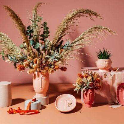Vase mini - Visage rouge