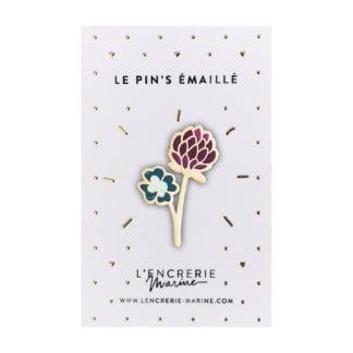 Pin's émaillé – Fleur de trèfle