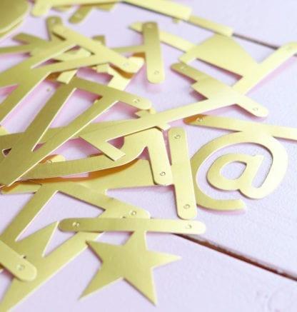 Guirlande lettres personnalisable - Doré