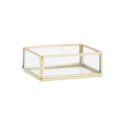 Boîte en verre - Doré XS