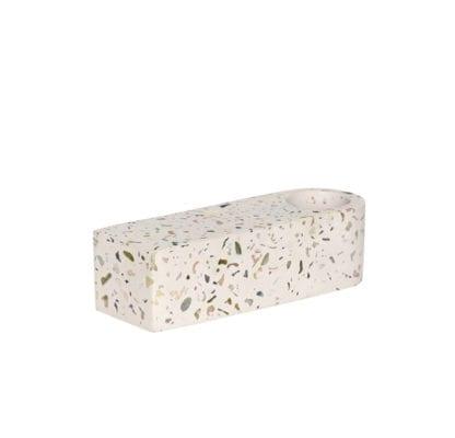 Bougeoir terrazzo - Blanc