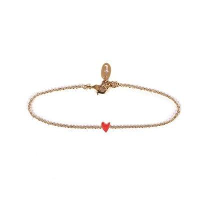 Bracelet Grant – Cœur rouge