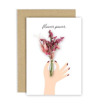 Carte de voeux - Fleurs séchées
