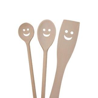 Spatules en bois - Happy (3pcs)