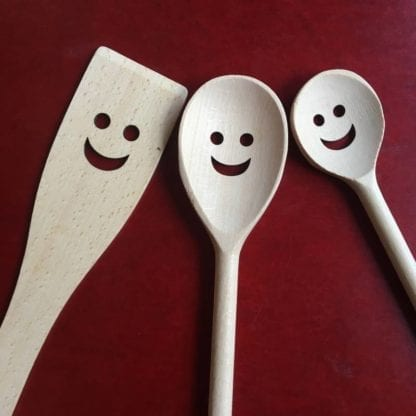 Spatules en bois - Happy (3pcs)