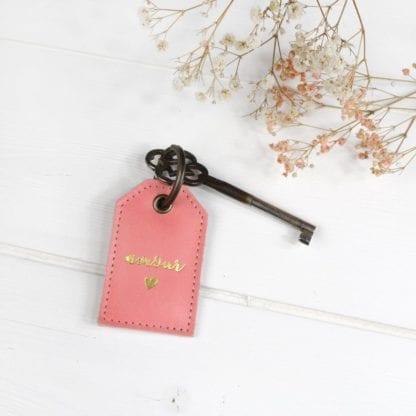 Porte-clés - Amour fraise