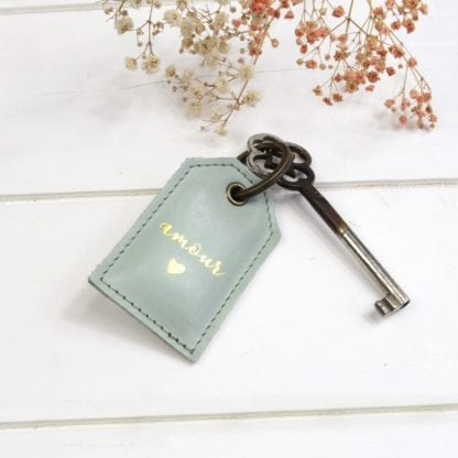 Porte-clés - Amour menthe