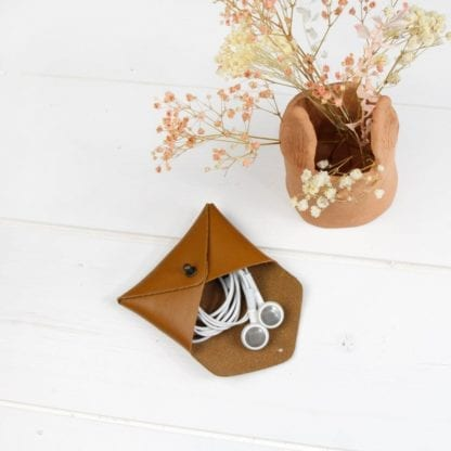 Porte-monnaie mini - Cœur caramel