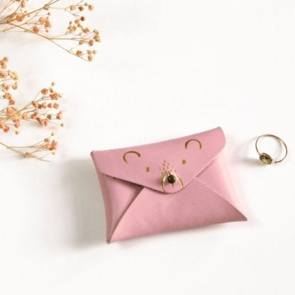 Porte-monnaie mini - Ourson rose