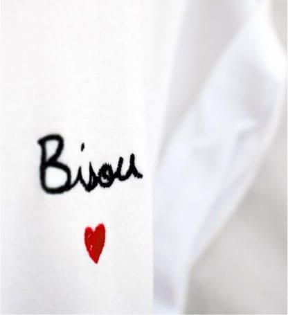T-shirt - Bisou brodé (adulte)