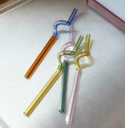 Pailles en verre - Sip spiral (4pcs)