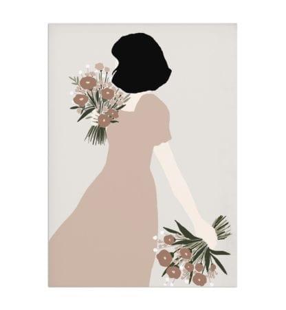 Affiche A4 – Femme & Bouquet