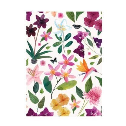 Carnet – Fleurs exotiques