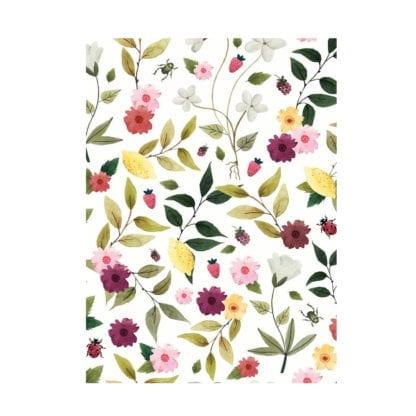 Carnet – Fleurs & Fraises