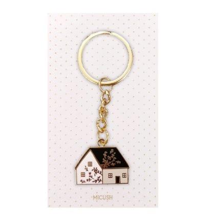 Porte-clés émaillé - Maison