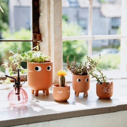 Cache-pot mini - Yeux terracotta