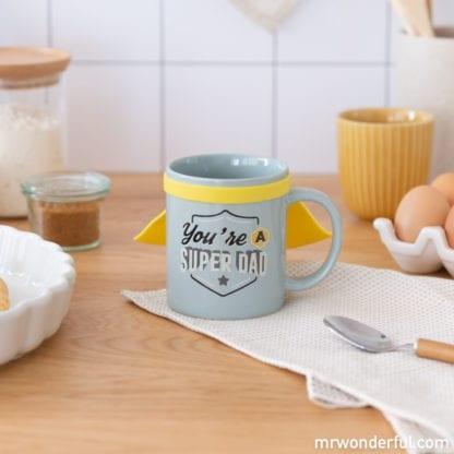 Mug avec cape - Super dad