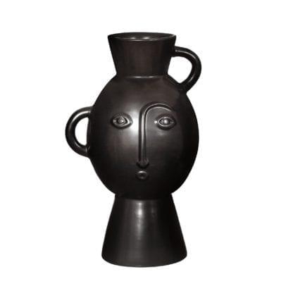 Vase - Visage noir