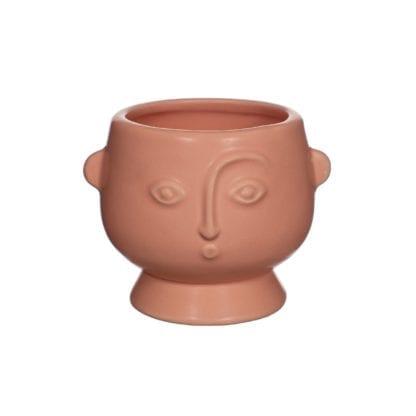 Cache-pot - Visage rose